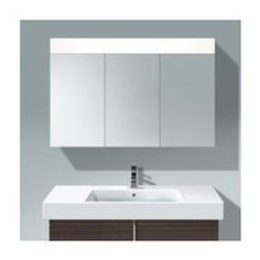 gloss armoire de toilette triptyque lapeyre 392 50. Black Bedroom Furniture Sets. Home Design Ideas