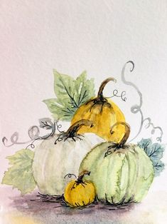 Excited to share this item from my shop: Pumpkin white 2 - original watercolor on 400 series paper Pumpkin Drawing, Pumpkin Art, Autumn Painting, Autumn Art, Watercolor Cards, Watercolor Flowers, Watercolor Paintings For Beginners, Halloween Art, Decoupage