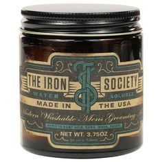 The Iron Society Water Soluble Pomade 4oz