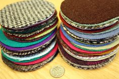 50  3inch  Felted Wool Circles by dashton4 on Etsy, $8.99