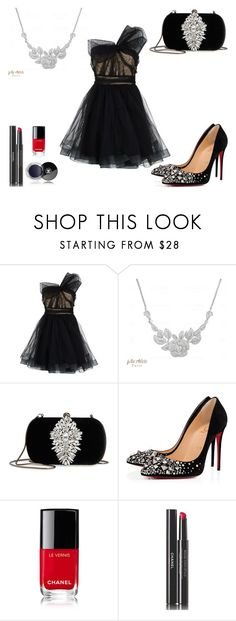 """""""Classy New Year's Eve Look"""" by joliecherieparis ❤ liked on Polyvore featuring RED Valentino, Badgley Mischka, Christian Louboutin and Chanel"""