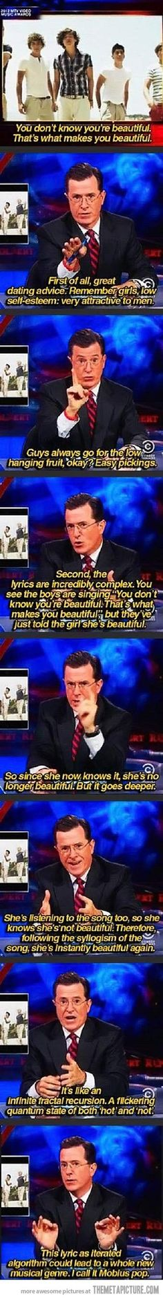 Brilliant Stephen Colbert.... even more hilarious when you hear him say this hahahaha