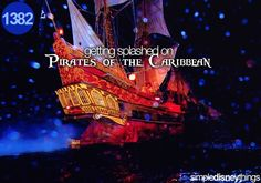 getting splashed on pirates of the caribbean