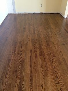 Antique brown mixed with coffee brown stain on solid white oak