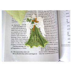 Embroidery Lace Angel, Angel with Cross Ornament, Easter Angel... ($5.50) ❤ liked on Polyvore featuring home, home decor, holiday decorations, angel ornaments, cross ornaments, cross home decor, easter home decor and easter ornaments