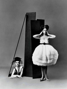Dovima andBetsy Pickering   dresses by Lanvin-Castillo, Paris studio, August 1958   photographed by Richard Avedon (1923-2004)
