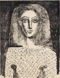Pablo Picasso (1881-1973) Le Corsage A Carreux 1949 (654 x 499 mm)