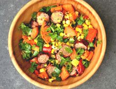 Grilled Sausage and Sweet Potato Salad - Wholesomelicious