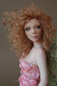 Beautiful Hand Made Polymer Clay Doll x