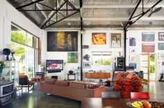 the warehouse conversion home of Luc Longley and Anna Gare | House Nerd