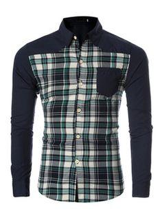 4e92581dbe8 Manga larga tela escocesa verde rojo camisas hombres Slim Fit camisas de  algodón informal Carouri