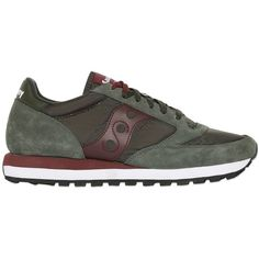 Saucony Men Jazz Suede & Nylon Sneakers ($135) ❤ liked on Polyvore featuring men's fashion, men's shoes, men's sneakers, army green, mens shoes, mens suede sneakers, saucony mens shoes, mens sneakers and mens suede shoes