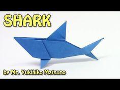 Origami SHARK by Mr. Yukihiko Matsuno - Yakomoga Origami tutorial - YouTube