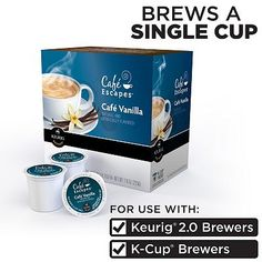 Keurig® K-Cup® Portion Pack Cafe Escapes Cafe Vanilla Coffee - 16-pk.
