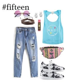 """""""#fifteen"""" by hayescomet on Polyvore featuring Maui and Sons, NIKE, Sun Bum, Rock 'N Rose and Catch Surf"""