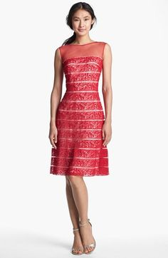 Tadashi Shoji Lace Illusion Dress available at Nordstrom