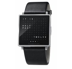 You probably know the famous QLOCKTWO, the clock that literally tells the time. Now, Biegert & Funk, the brand behind the clock, brings this cult item to a portable design with the QLOCKTWO W watch. The square 35mm watch is crafted of brushed stainless steel and features a single push button, which entirely operates the timekeeper allowing you to also display the calendar day or seconds in poetry.