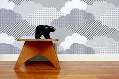 Clouds Wallpaper in Storm design by Aimee Wilder