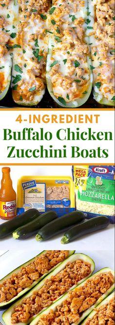 Wild ox Chicken Zucchini Boats – a straightforward stuffed zucchini formula that calls for four fixings. Stuffed Zuchinni Boats, Chicken Zucchini Boats, Zucchini Boat Recipes, Zucchini Squash, Healthy Zucchini, Healthy Diet Recipes, Gourmet Recipes, Healthy Eating, Chicken