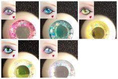 ice frozen sparkles silver gliter dreamy  BJD doll eyes 10mm 12mm 14mm 16mm 18mm blue pink gold yellow white