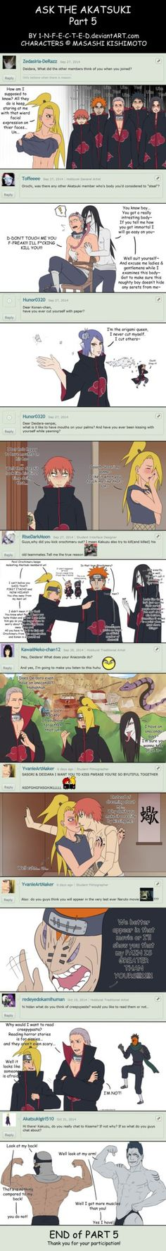 +Ask the AKATSUKI PART 5+ by 1-N-F-E-C-T-E-D.deviantart.com on @DeviantArt