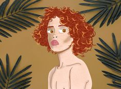 Redheaded boy.  Primeiro desenho utilizando o illustrator de auxílio.  #character