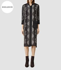 Women's Lupine Latice Dress (Bitter Chocolate) - product_image_alt_text_1