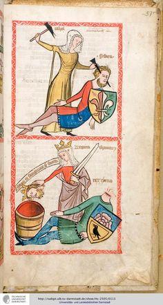 Hs 2505: Speculum humanae salvationis (Westfalen od. Köln, um 1360)
