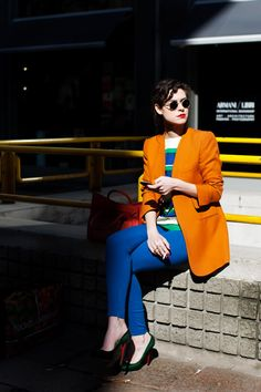 #myshoestory #jcrew lets discover Paris...Orange on blue.