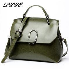 4a6cab88ae LUYO Fashion Genuine Leather Bag For Woman Luxury Handbags Women Bags  Designer Girl Shoulder Bag Female