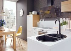 Deante Yellow Swivel Spout Mono Kitchen Sink Basin Modern Mixer Tap Single Lever for sale online Granite Kitchen Sinks, Modern Kitchen Sinks, Kitchen Taps, Diy Kitchen, Modern Mixers, Design Simples, Sink Mixer Taps, High Quality Furniture, Kitchen Colors