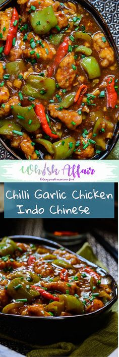 Fiery hot and full of garlic flavor, this Indo Chinese Chilli garlic chicken is a must make recipe. Enjoy it with fried rice or plain steamed rice. #AsianRecipes #ChickenRecipes #IndoChineseRecipes via @WhiskAffair