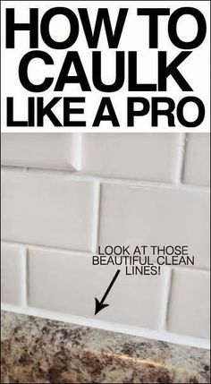 Best DIY Projects: How to caulk like a pro