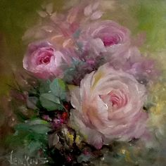 Gary Jenkins rose painting - small treasures series - so beautiful!