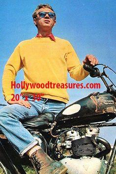 "Steve McQueen~Triumph Motorcycle~Biker~Motocross~Photo~ Poster 20"" x  30"""