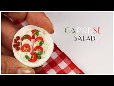 polymer clay Caprese Salad TUTORIAL - YouTube