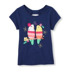 bow-back graphic tee