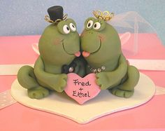 frog cake topper