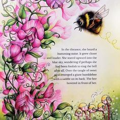 """Gefällt 2,136 Mal, 25 Kommentare - Johanna Basford (@johannabasford) auf Instagram: """"Beautiful bee and sweet peas by the wonderful @shirley_tutopia - Ivy and the Inky Butterfly is…"""""""