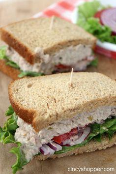 CopyCat Panera Tuna Salad Sandwich Recipe. Perfect spring sandwich. Saving some $$'s making at home.
