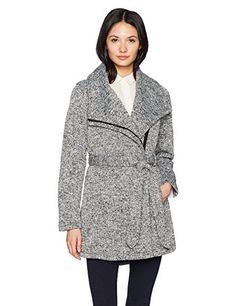 efeeaf5c0a476 Steve Madden Womens Fashion Outerwear Jacket Light Greay Heather 710H M    Check this awesome product by going to the link at the image.