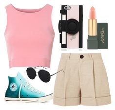 """Untitled #210"" by summer-zou ❤ liked on Polyvore featuring Glamorous, Totême, Converse, MAC Cosmetics and Kate Spade"