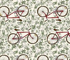 go west bike | sarahgager, Spoonflower