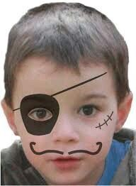 Maquillage enfant Pirate , Tuto maquillage enfant – Loisirs créatifs Piratenkindermake-up, Tuto-Kindermake-up – Kreative Hobbys This image has get Pirate Face Paintings, Face Painting For Boys, Simple Face Painting, Face Painting Halloween Kids, Body Painting, Halloween Makeup For Kids, Kids Makeup, Eye Makeup, Face Painting Tutorials