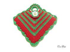 Christmas Crochet Potholder Crochet Red and by CreArtebyPatty
