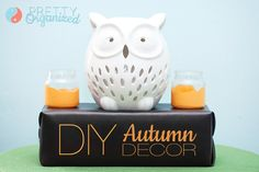 DIY Autumn Decorations: Paint-Dipped Votives & 30-Second Display Stand    #DIY #decorate #craft