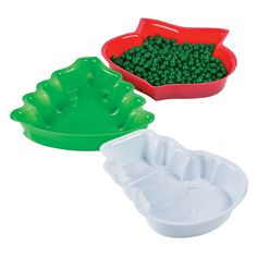 Christmas Shaped Serving Trays - OrientalTrading.com