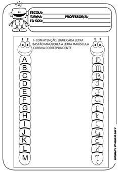 Atividade pronta - Alfabeto bastão e cursivo