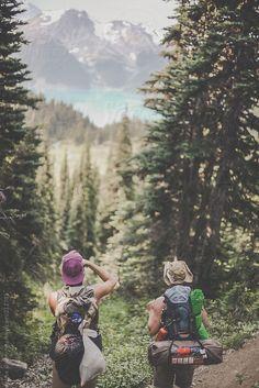 Hiking in Garibaldi Provincial Park by Luke Gram #stocksy #realstock