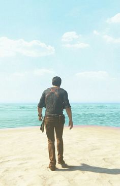 Nathan Drake on the shore of a beach 🌊 Nathan Drake, V Games, Best Games, Drake Uncharted 4, A Thief's End, Fan Poster, Motion Capture, New Media Art, Wanderland